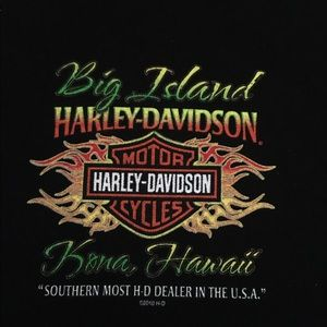 Harley Davidson Trademark T shirt from Hawaii